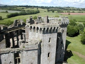 http://commons.wikimedia.org/wiki/File:Raglan_Castle_-_geograph.org.uk_-_1419639.jpg